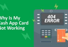 Cash App card not working